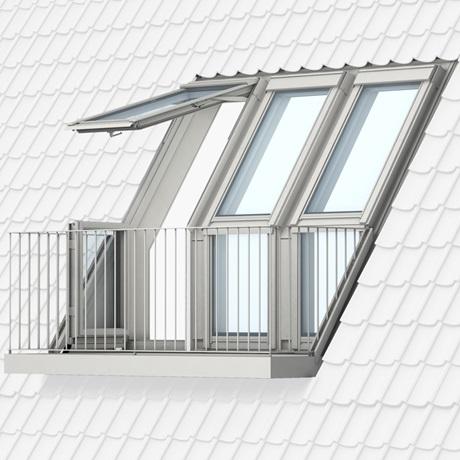 Cabrio e balconata velux un balcone sul tetto for Velux finestre balcone