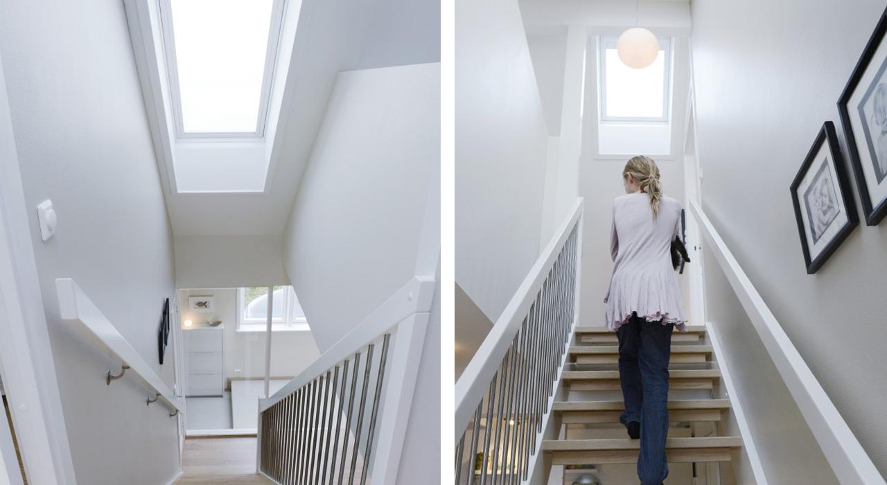 Idee per corridoi e scale con le finestre per tetti velux - Finestre per scale ...