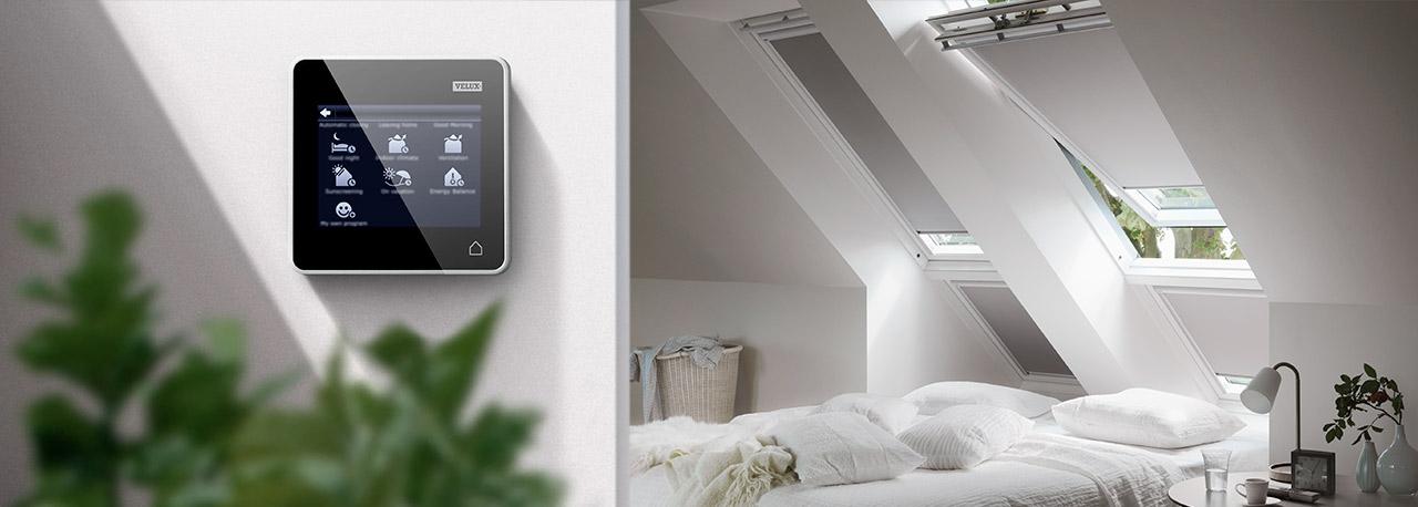 velux integra system automatische produkte f r mehr komfort. Black Bedroom Furniture Sets. Home Design Ideas