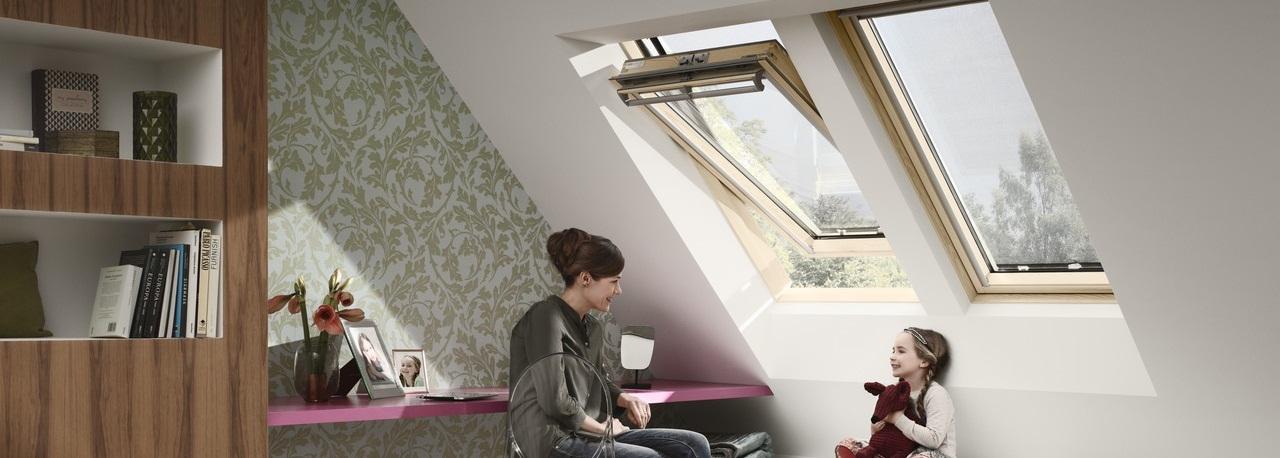 Finestre con apertura a bilico velux vista libera for Velux finestre assistenza