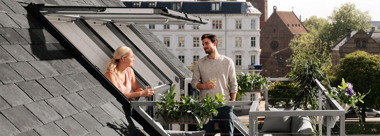Cabrio e balconata velux un balcone sul tetto for Velux shop finestre